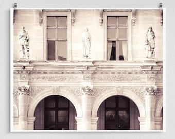 Paris photography - Louvre, Facade - Paris photo,Fine art photography,Paris decor,8x10 wall art,white,Fine art prints,Art Posters,Paris art