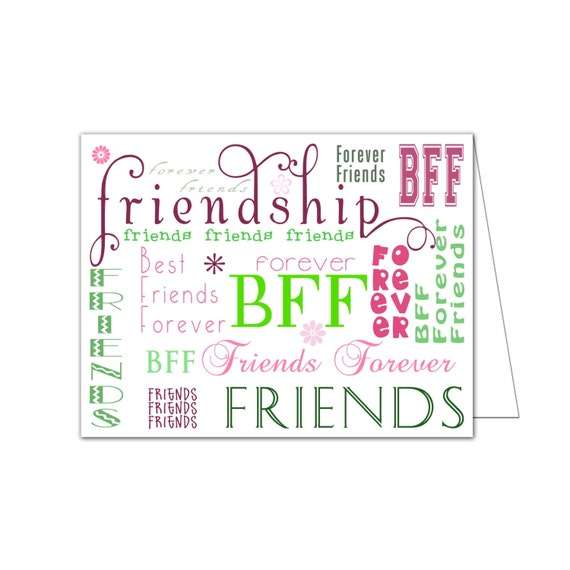 Zany image in printable friendship cards