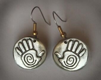 Healing Hands Petroglyph earrings