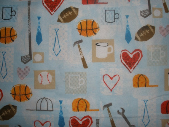 Flannel little boy sports fabric for Little boy fabric