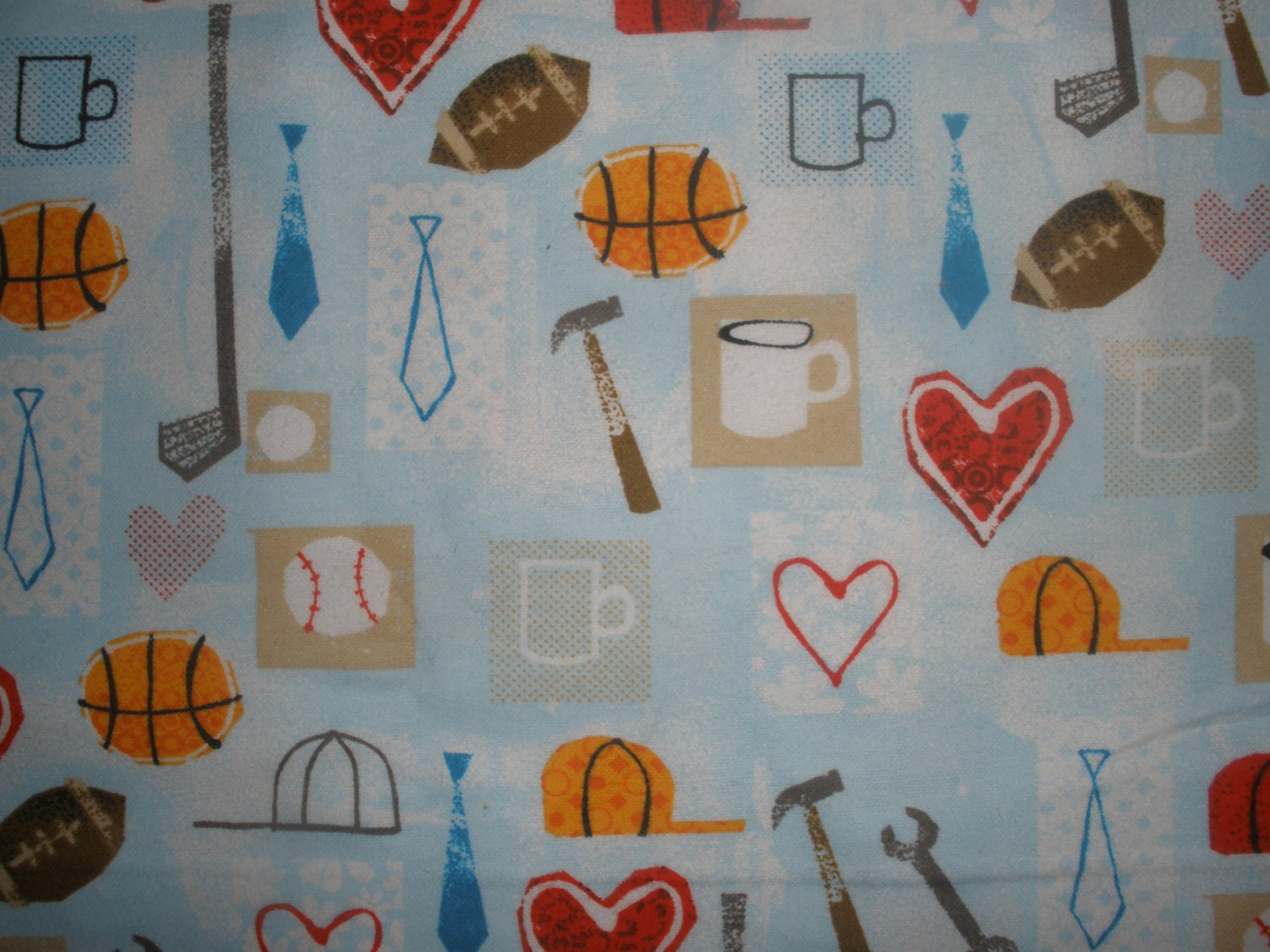 Flannel little boy sports fabric from crazy4claire on for Little boy fabric
