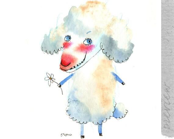 The white sheep, original painting by ozozo