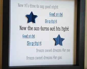 Baby of mine lyrics dumbo nurserypaper art shadow box for Living in a box room in your heart lyrics