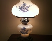 Beautiful Painted Double Globe Parlor Lamp - updated wiring