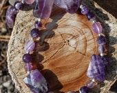Perfectly Purple Amethyst Necklace- 21 inches