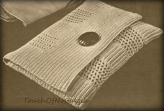 ENVELOPE Evening CLUTCH Vintage Crochet Pattern - CHIC Style / Evening ...