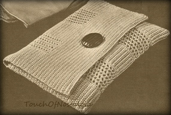 Vintage Crochet Clutch Pattern : ENVELOPE Evening CLUTCH Vintage Crochet Pattern - CHIC Style / Evening ...