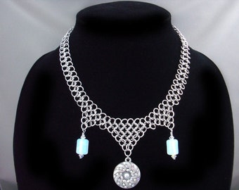 Opalite Chainmaille Necklace