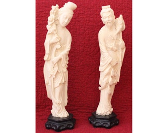 Vintage Norleans Asian Statue Set