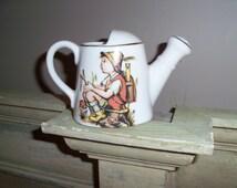 Vintage Porcelain Creamer Pitcher with Boy Hummel