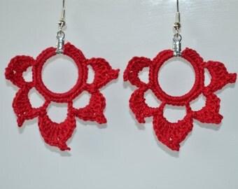 Crochet Lotus Earrings