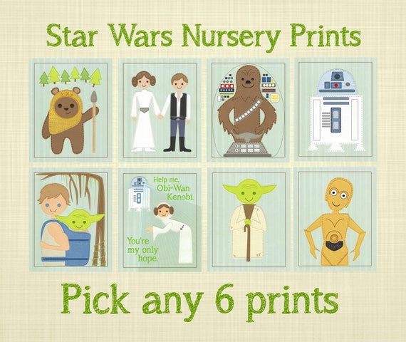 STAR WARS Nursery Prints