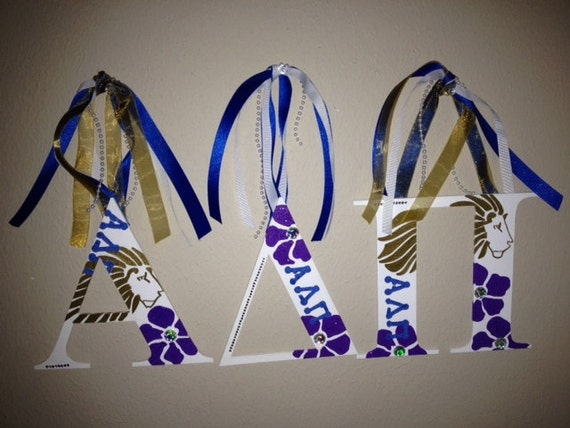 alpha delta pi greek sorority wall letters by themesations With greek wall letters