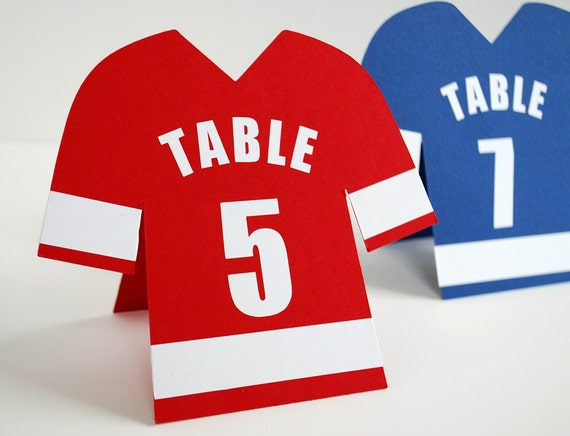 Sports Jersey Table Numbers Set Of 10