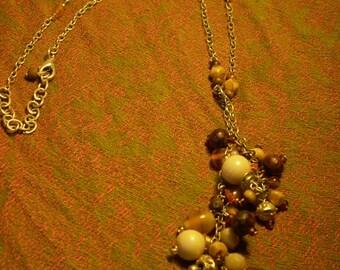 Vintage Earthtone Beaded Necklace