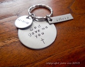 God gave me you keychain - Great for Godparents and Grooms too