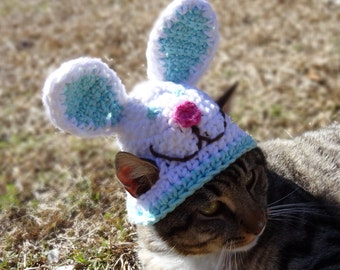 Cat Hat, Cat Costume, Hats for Cats, Easter Cat Hat, Easter Bunny Cat Hat, Easter Cat Costume, Bunny Hat for Cats, Easter Hats for Cats