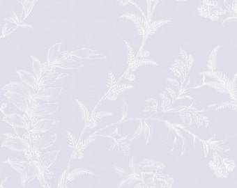 Cole & Sons, Ludlow paper in pale grey-blue, made in England