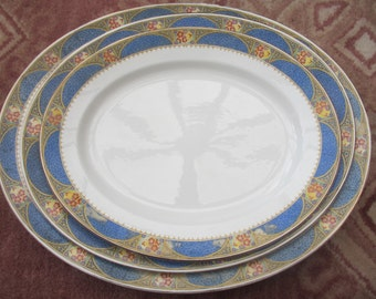 Antique 3 Imperial Porcelain Wedgwood Doreen Platter's very RARE 1800's SALE ITEM
