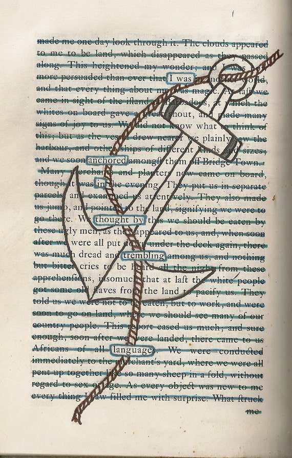 Found Text Blackout Poem 39 Anchor 39 On A6 Greeting Card