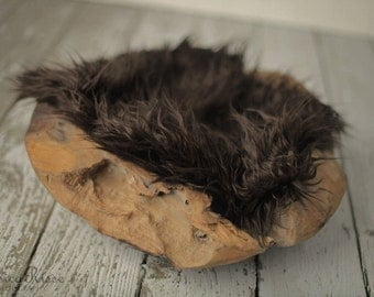 Newborn Photography Props Faux Fur Photo Prop Newborn Baby Picture Props for Newborn Photography Photo Prop Newborn Photos Props Brown