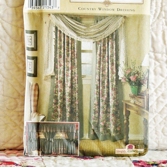 Home DECOR PATTERN 1999 SIMPLICITY 8052 Country Window