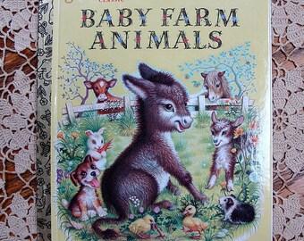 1987 Little Golden Book Classic Baby Farm Animals