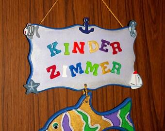 Exclusive door sign for the nursery