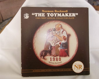 Norman Rockwell Boxed Plate Toymaker 1980  First