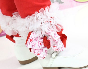 Red Heart Socks, Red Bow Socks, Red White Hearts Ribbon Bow Socks, Newborn Red Pink Heart Socks, Infant Red Pink Heart Socks, Girls Red Sock