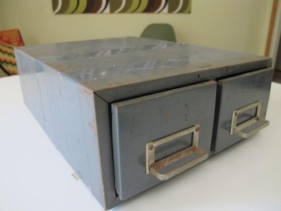 metal office / industrial index card file / drawers