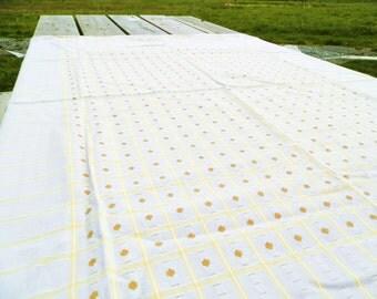 Vintage Danish Pale Grey Cotton Table Cloth / Danish Modern Decor / Mid Century Decor / Mid Century Modern / Retro Home /  European / Design