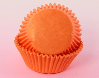 Orange Cupcake Liners Bulk 2'' Standard Size Cupcake Liners, Baking Cups, Muffins