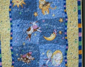 Hey Diddle Diddle: The Cat and The Fiddle - The Cow Jumped Over the Moon Nursery Rhyme Crib Nursery Cot Toddler Playmat Traditional Cat Moon