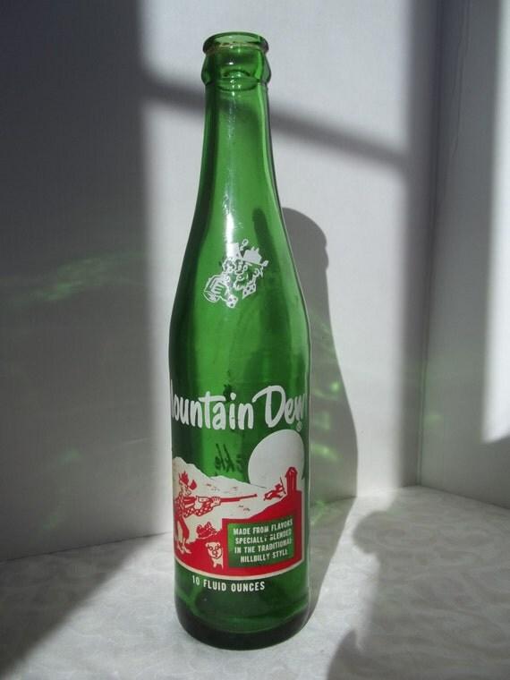 Vintage mountain dew hillbilly soda bottles