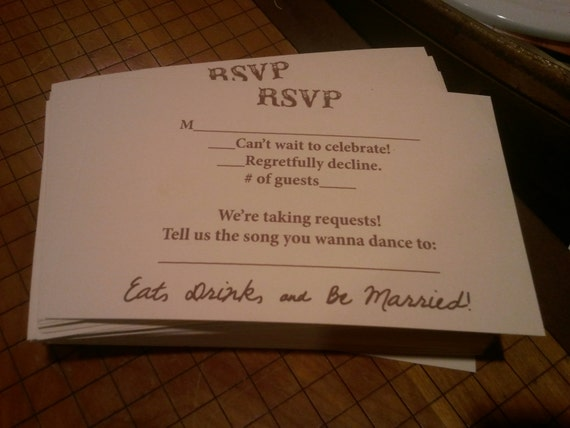 Music request RSVP card by neillydesign on