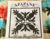 """Hawaiian quilt pattern """"Hawaiian Pineapple"""" 20 inch x 20 inch"""