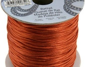 10M 1.5mm COPPER Satin Rattail Cord - macrame cord - DIY Organza Necklace - Kumihimo - Friendship Bracelet - Knotting - Braiding