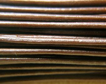 1.5mm Genuine GREEK LEATHER Cord - Quality BROWN Greek Leather - 6 Feet of Leather Cord - Bracelet Cord - Jewelry Supplies