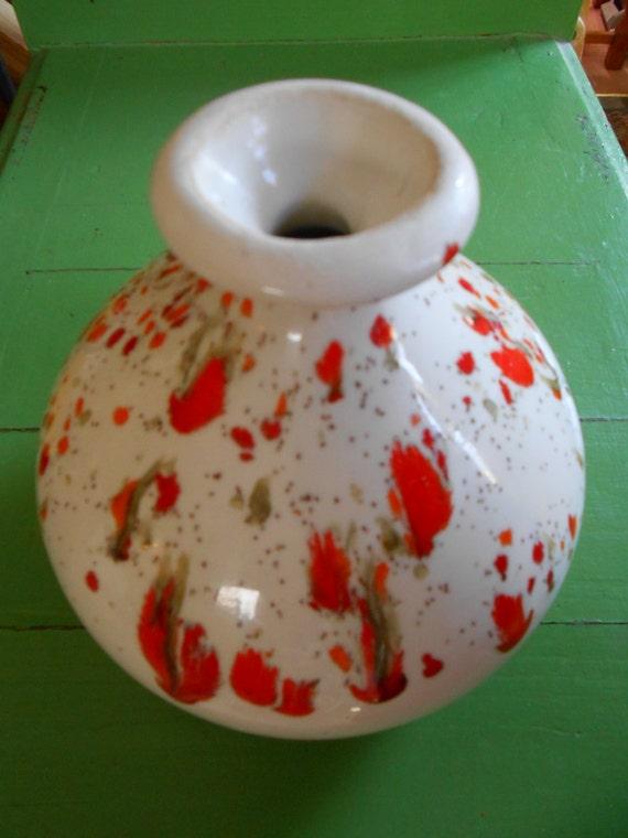 vintage bar harbor of maine pottery vase cololful paint