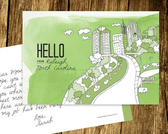 Hello From Raleigh Postcards - Set of 10