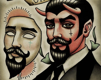 Devil in Disguise Tattoo Print