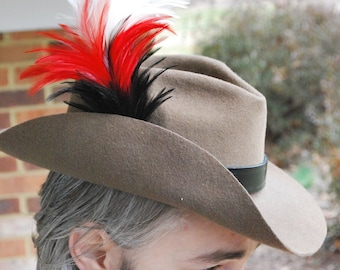 British Cavalry Style Hat, Bush Hat, Outback Hat