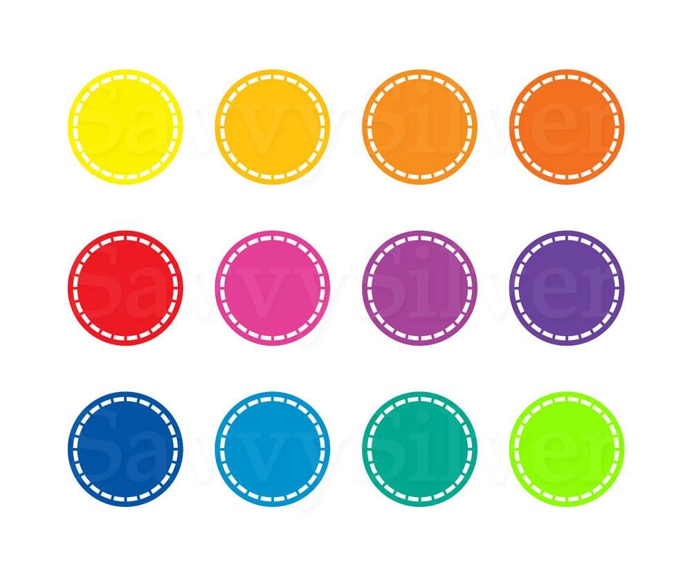 Digital Circle Clipart Rainbow Colorful Mod Circles
