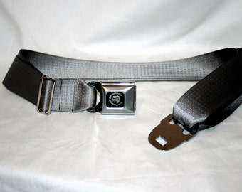 Silver Cadillac Buckle-Up Belt