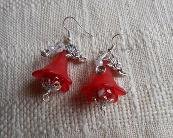 Angels fire and ice  hand made earrings