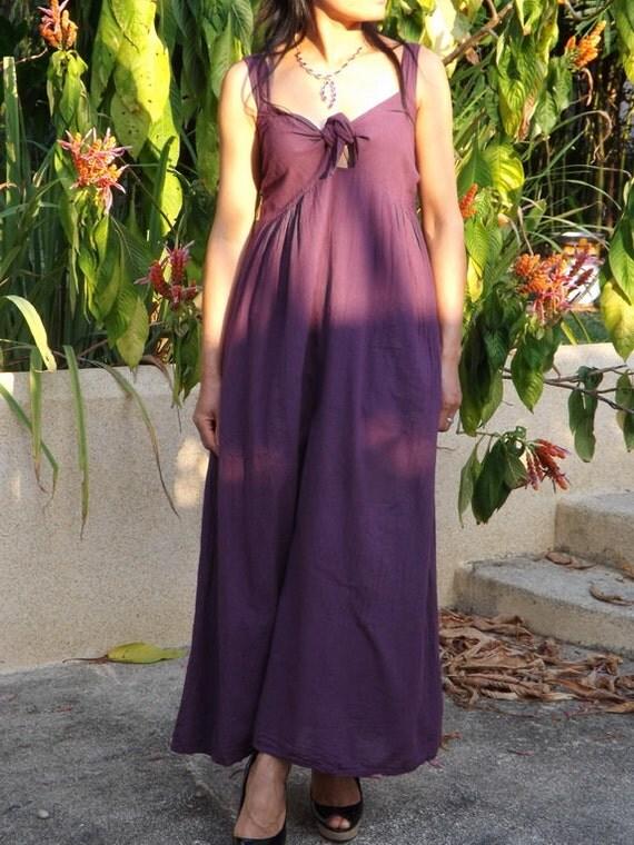 Maxi Dress  ...Color Deep Purple ....Evening Dress..