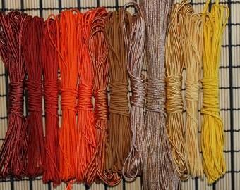 Soutache jewerly making  ORANGE YELLOW palette bracelet cords 5m lace trim braid rust red brick orange exotic vanilla saffron gold yellow