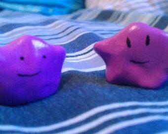 Handmade pokemon polymer figurines: Ditto Ct 2