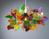 Pandent light Multicolored leaves and flowers Chandelier for kids room, living room, bedroom